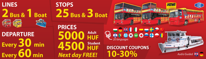 Hop on hop off sightseeing tour Budapest information
